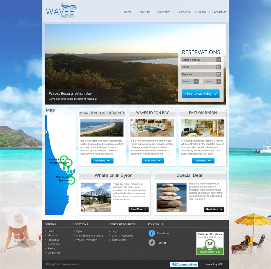 WavesResorts WebSite