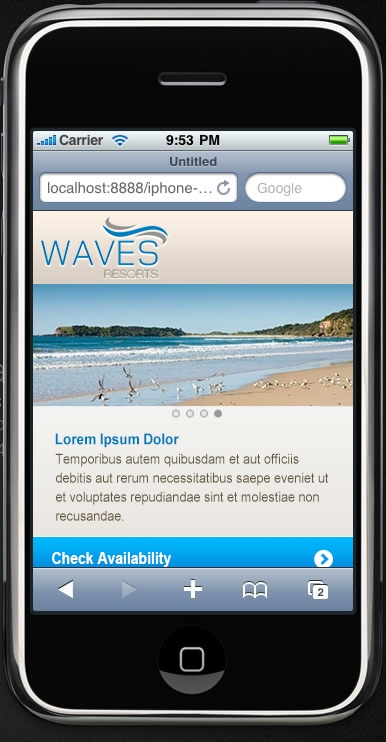 Waves Resorts Mobile Mock Up 1