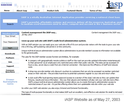 History of the iASP™ cms